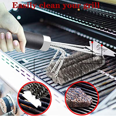 BBQ Grill Cleaning Wire Brush Stainless Steel Barbecue Tool Scraper For Kitchen