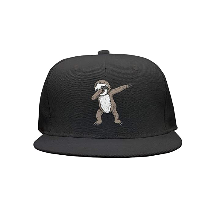 376ae3ed28f Man Dabbing Sloth Cute Animal Snapback hat Baseball Caps Trucker hat ...