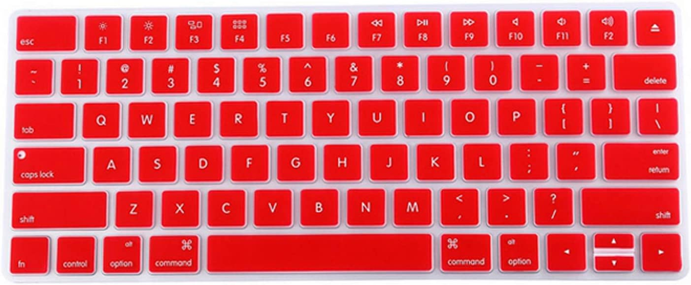 Us EU//Euro Silicone Magic Keyboard Protector Cover for Mac Pc Computer English Letter Magic 2 Bluetooth Keyboard Cover-in Keyboard Covers from Computer /& Office,Red