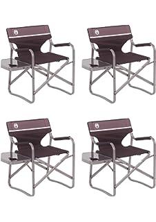 Amazon.com: Coleman Silla de camping con mesa lateral, silla ...