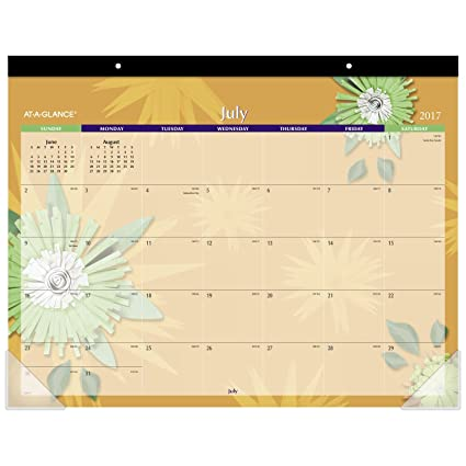 amazon com at a glance academic desk pad calendar july 2017