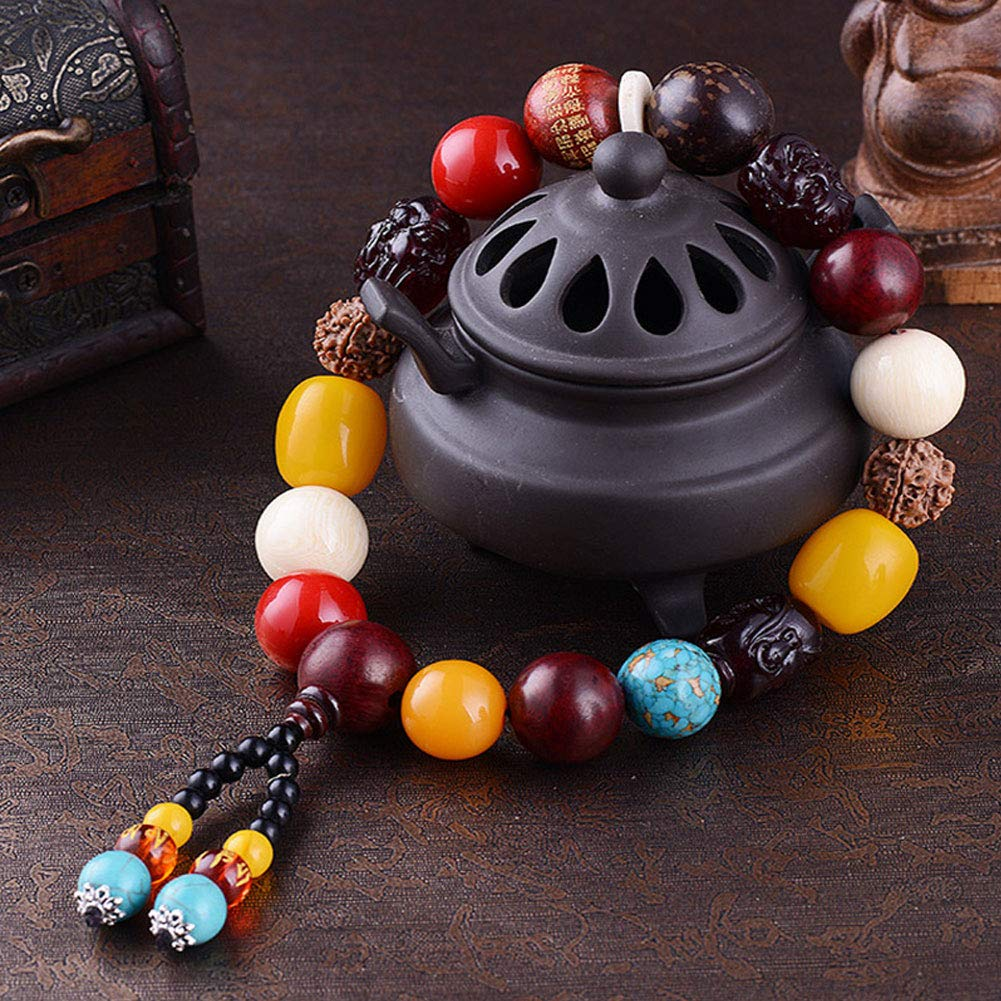 Move on Car Gear Shift Wood Buddha Beads Bracelet Rearview Mirror Hanging Ornament Decor S by Move on (Image #7)