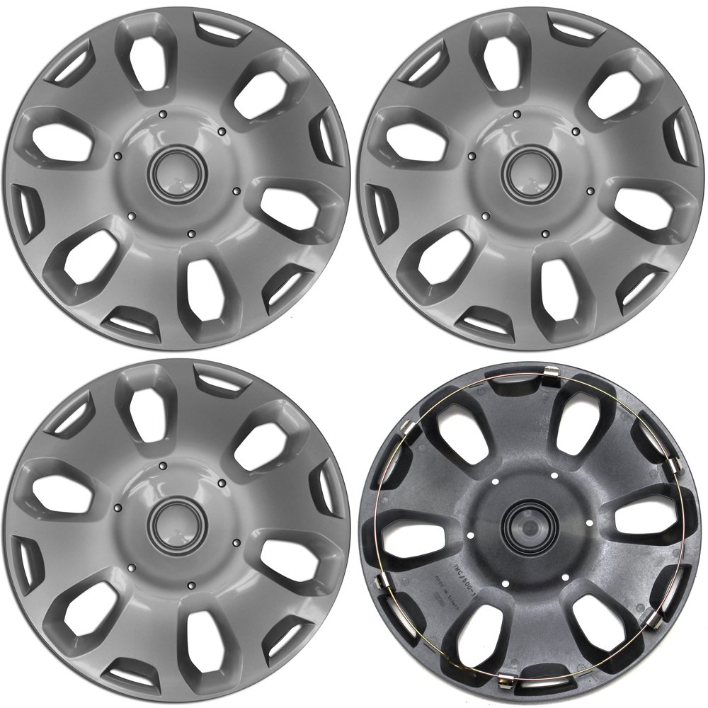 Amazon com hubcap for ford transit connect pack of 4 wheel cover 15 inch 6 spoke snap on silver automotive