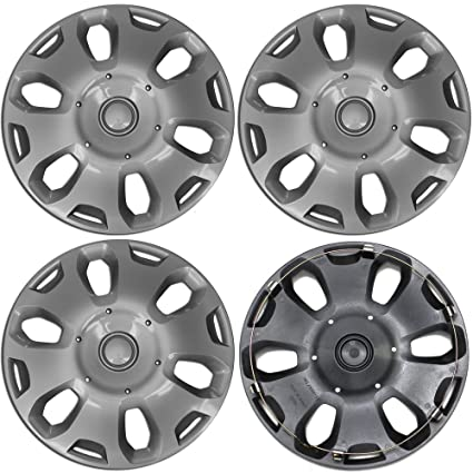 15 inch Hubcaps Best for 2010-2013 Ford Transit - (Set of 4) Wheel Covers 15in Hub Caps SIlver Rim Cover - Car Accessories for 15 inch Wheels - Snap On ...