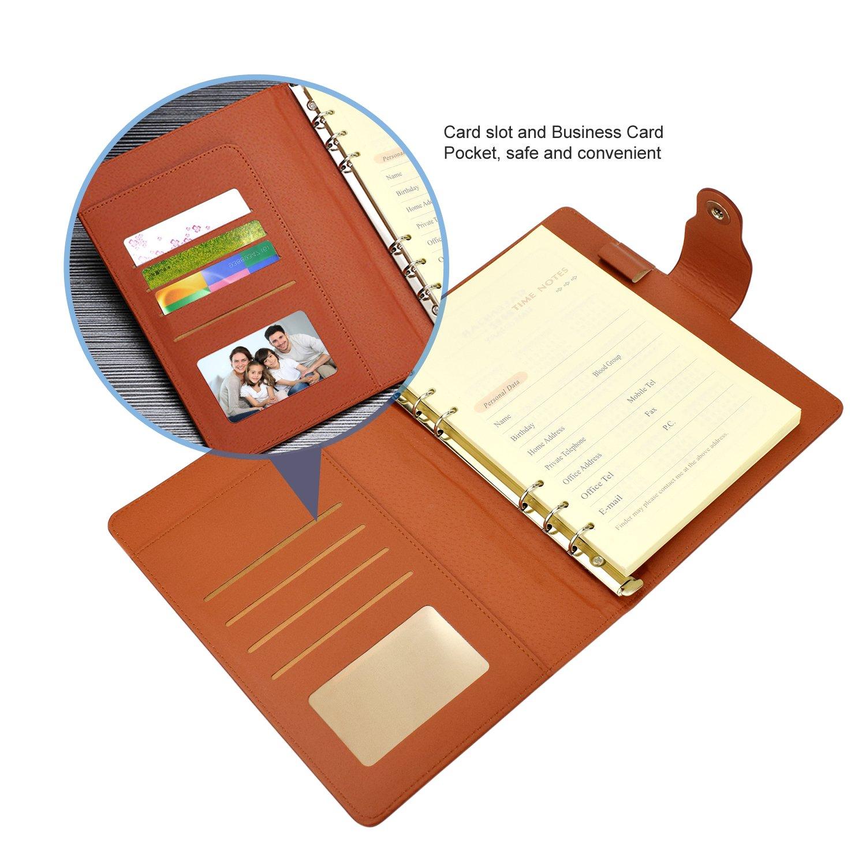 Amazon.com: EsOffice - Diario rellenable de piel, estilo ...