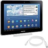 kwmobile Dockingstation für Samsung Galaxy Tab 1/2 10.1 /Tab 2 7.0 /Note 10.1 Weiß - edles Design.