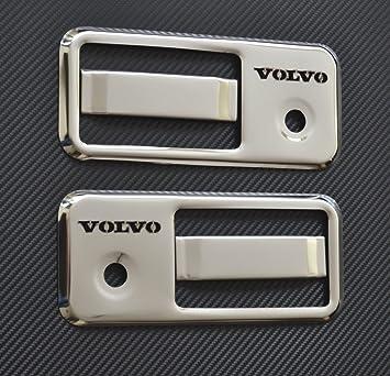 Juego de 4 piezas de cubiertas de acero inoxidable para manillar de puerta para camiones FH/FM, lado izquierdo y derecho: Amazon.es: Coche y moto