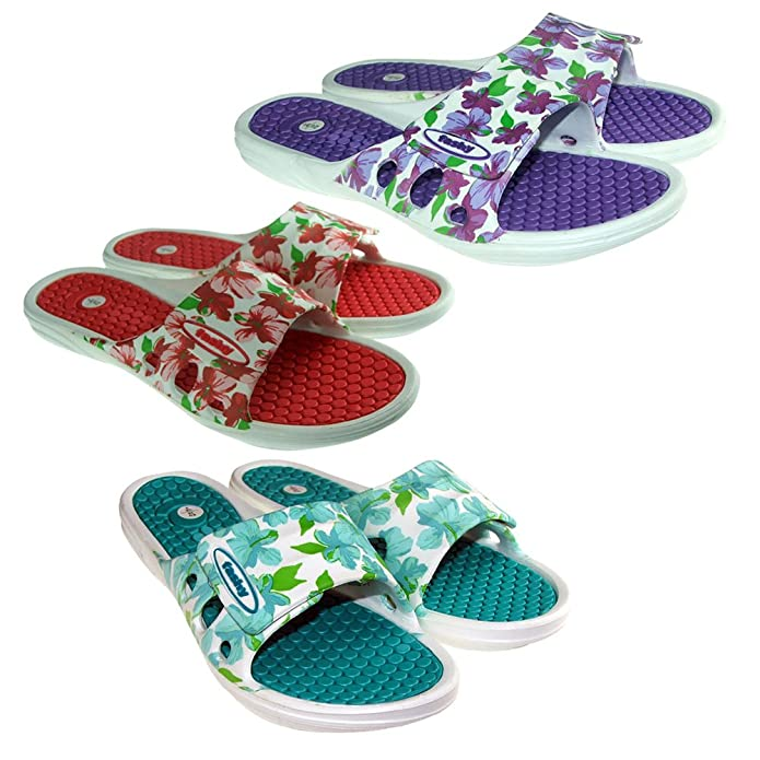 Bathing slipper Samela with comfort footbed And Velcro closure by Fashy [ 7638]: Amazon.co.uk: Shoes & Bags