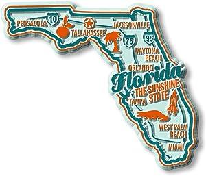 Premium State Map Magnet - Florida
