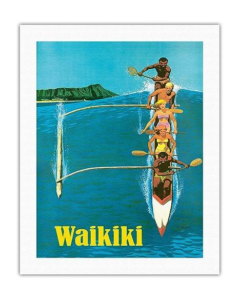 Pacifica Island Art Waikiki-Canoa de Soporte de Surf-United ...
