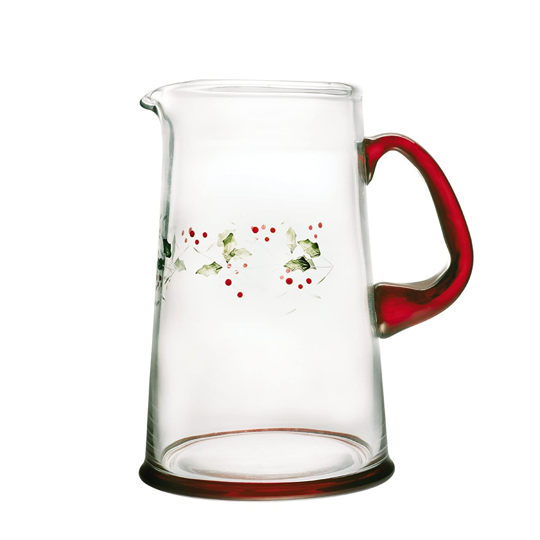 amazoncom  pfaltzgraff winterberry quart glass water  - amazoncom  pfaltzgraff winterberry quart glass water pitcherwinterberry pfaltzgraff water pitcher carafes  pitchers