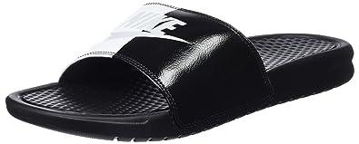 115766c3167b Nike Men s Benassi Just Do It Sandal Black Pure Platinum-Black-White