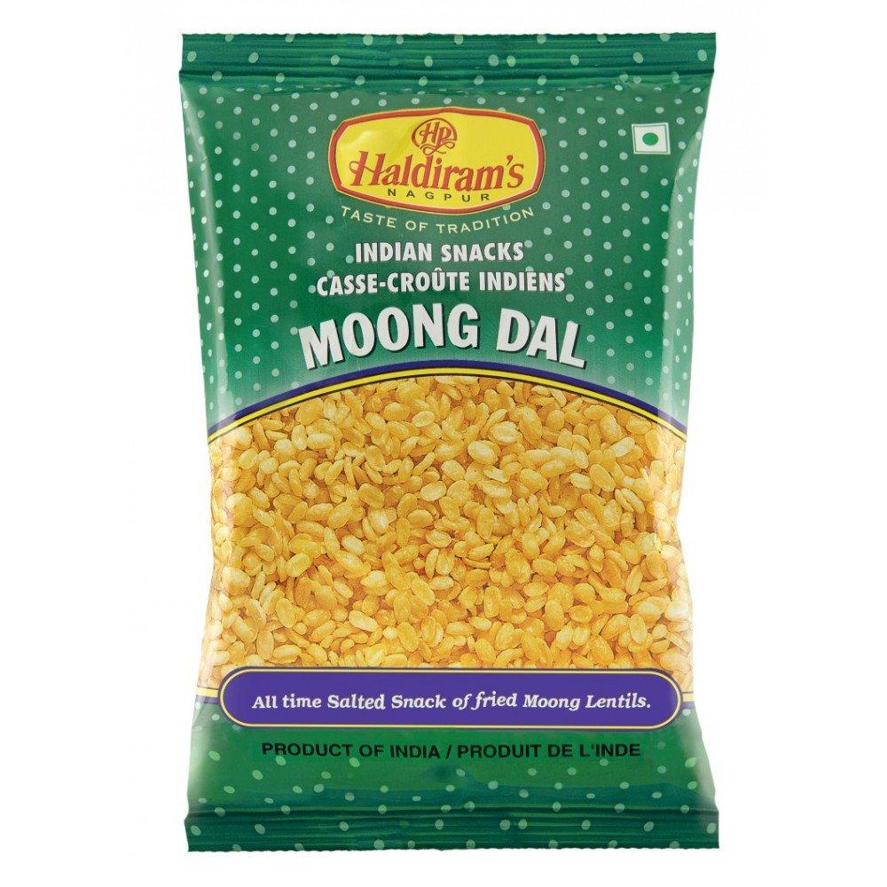 Haldiram Indian Snacks Moong Dal All Time Salted Snack of Fried Mung Lentils 150g ( 5.2 Oz )