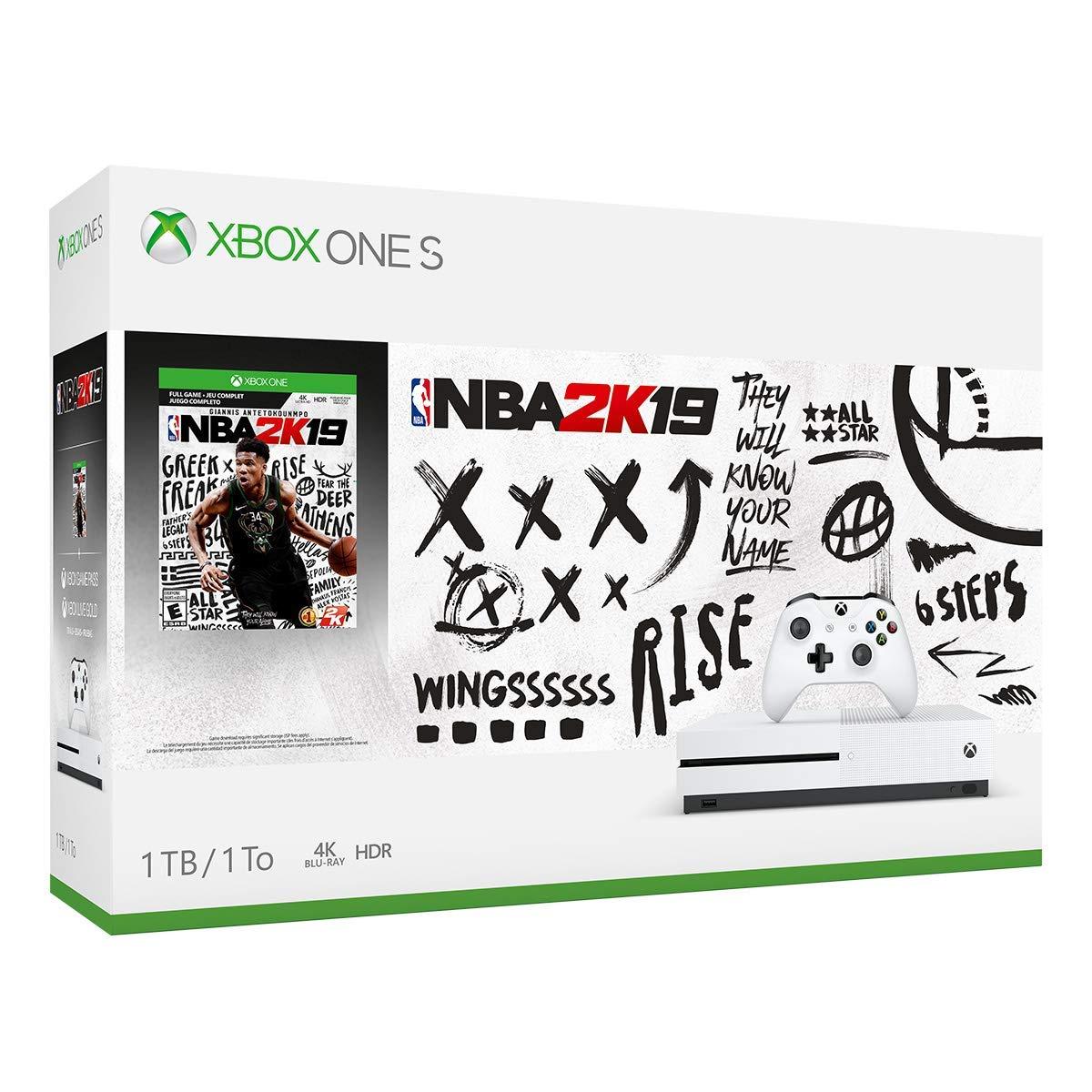 Xbox One S 1TB Console - NBA 2K19 Bundle (Discontinued) (Renewed)
