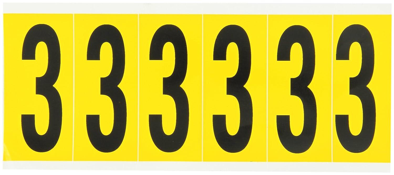 1550-A BRADY Vinyl Letter Label,A,1-1//2 in H W x 3-1//2 in