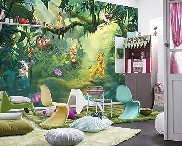 Papier Peint pour Chambre d\'enfant Motif Disney Le Roi Lion Jungle ...