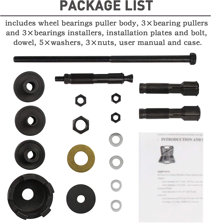 Steering & Suspension Tools VT102 Wheel Bearing Puller Remover ...