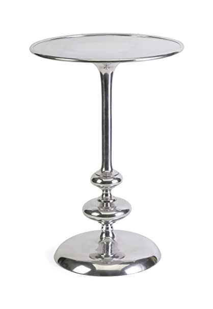 IMAX 20018 Cheshire Aluminum Side Table   Metal Accent Table For Bedroom,  Living Room,