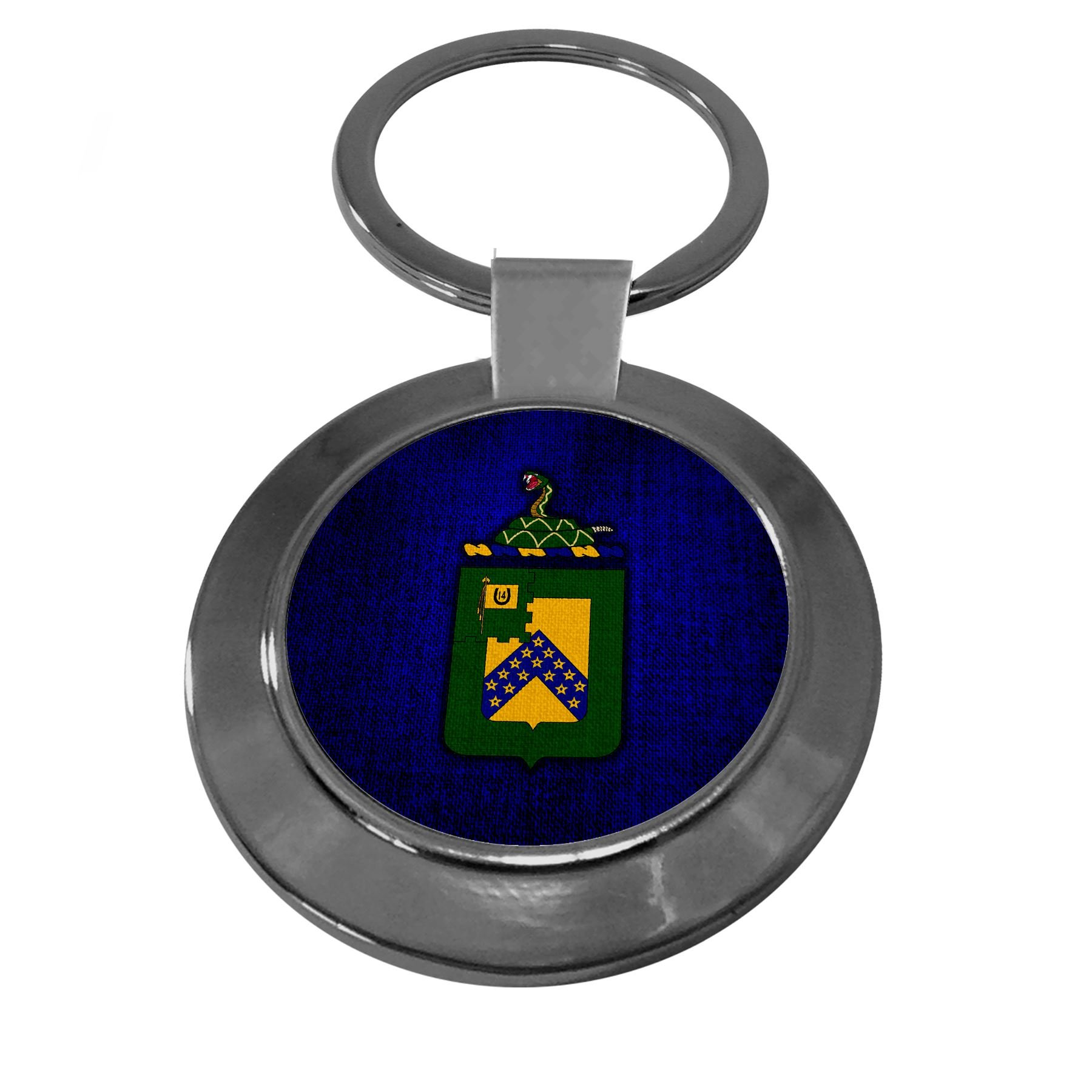 Premium Key Ring with U.S. Army 16th Cavalry Regiment, coat of arms
