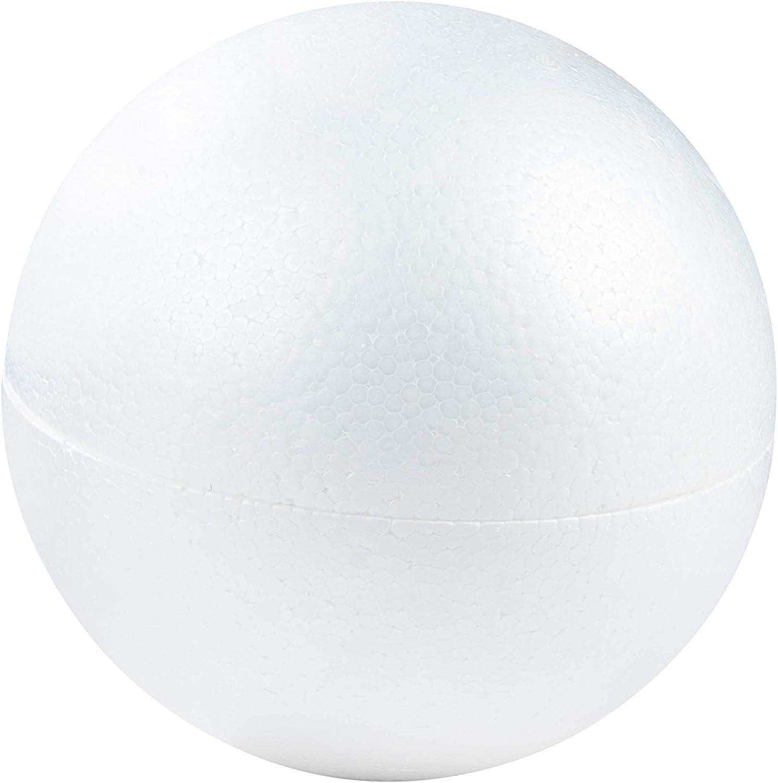 EXCEART 200PCS Half Foam Ball Shapes Semi Circle Styrofoam Ball White Polystyrene Foam Balls DIY Craft Gifts for Flower Arranging Xmas Wedding Party Favors Decoration 3cm