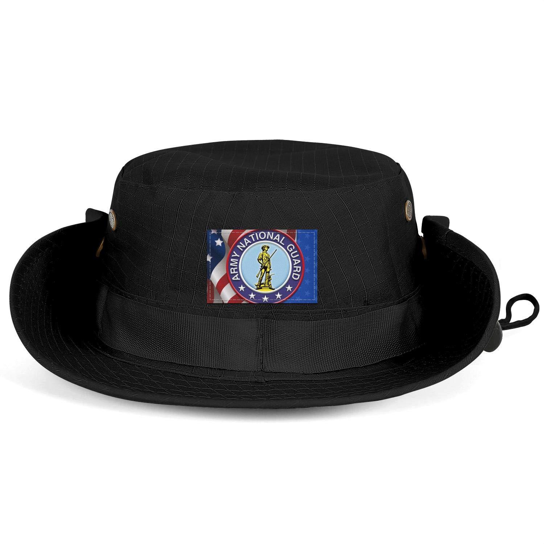 6521f741e Amazon.com: COOLER Military Army National Guard Black Wide Brim ...