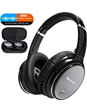 FITFORT CVC 6.0 Active Noise Cancelling Bluetooth Headphones - Hiearcool L1 Over Ear Headset with HiFi Stereo Sound, Build in Mic, Support Calling and Wired Mode( Deep Bass, 25-30 Hour Playtime)