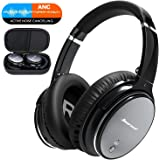 Noise Cancelling Bluetooth Headphones Wireless - Over Ear Headphones with HiFi Stereo Sound, Build in Mic, Supports Handsfree Calling and Wired Mode for Phones, PC, TV and Air Travel