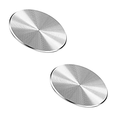 Adhesive Metal Plate Mounting Kits Stickers, Universal Discs Magnet Patch Compatible with Air Vent Magnetic Car/Vehicle Mount Holder [5Bkhe1410935]