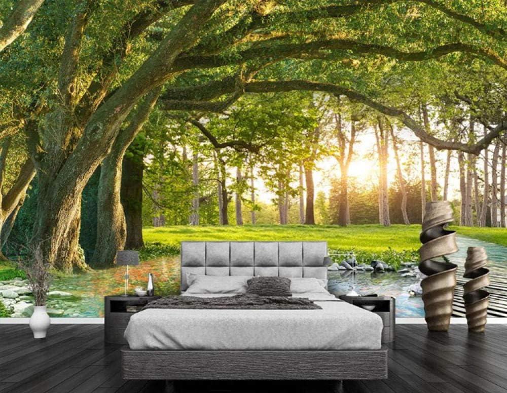 Bosque del árbol Paisaje natural, Murales de papel tapiz 3D Papel tapiz fotográfico para habitación de niños Dormitorio Arte de la pared Decoración Paisaje amanecer cubierta de la pared size:300x210cm: Amazon.es: Juguetes