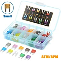 GlowGeek 100pcs Assorted Auto Car Truck Small Blade Fuse Assortment 2 3 5 7.5 10 15 20 25 30 35 AMP Car Boat Truck SUV Automotive Replacement Fuses - Low Profile Mini Small ATM/APM Blade Fuses