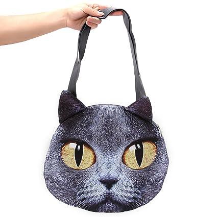 f7d7a9a107 Amazon.com  Aircee (TM) Fashion Animal Cat Face Handbag Girl And ...