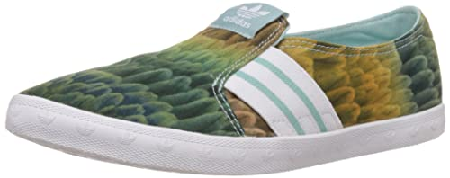 Adidas Adria PS Slip-On - Mocasines para Mujer, Color Verde (Clear Green s12/ftwr White/Clear Green s12), Talla 41 1/3