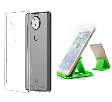 factory price f407f f37a0 BlueArmor Soft Silicone Back Cover Case For Yu Yureka Note 6000 YU6000 -  Transparent & Mobile Stand