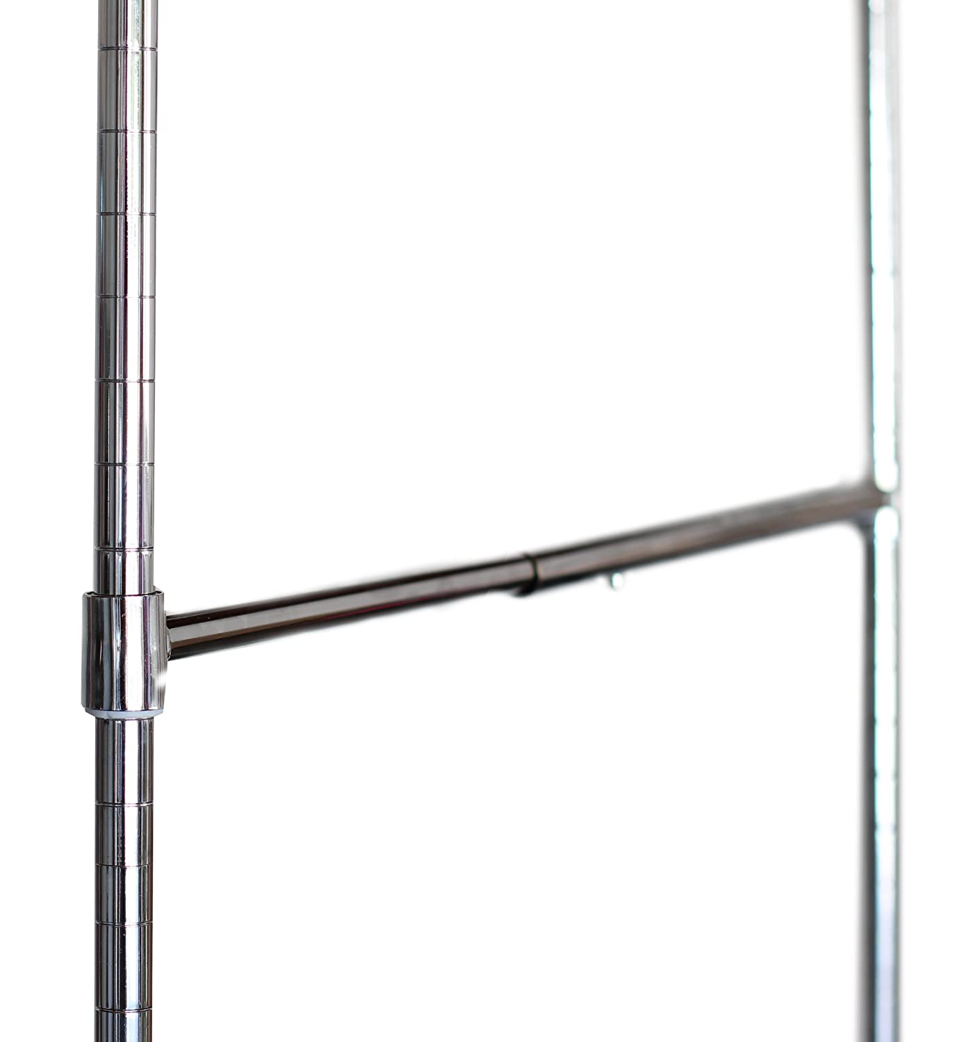 Amazon.com: DecoBros Adjustable Hanging Closet Rod, Chrome: Home U0026  Kitchen