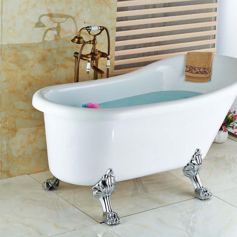galvanoplástica Retro Grifo baño latón envejecido en el suelo pie ...