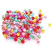 100 Hair Claw Clips Mini Hair Bangs Rainbow Beads Clip Cute Candy Colors Plastic Hairpins Hair Braids Maker Beads Head…