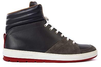 Dior chaussures baskets sneakers hautes homme en cuir gris EU 44 3SH029VPL 7f5a4e0b07f