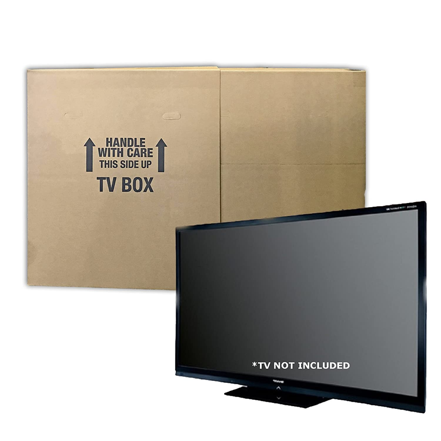 Uboxes TV Moving Box Flat Screen Fits TV's 32' To 70' Adjustable Box LCD, LED, Plasma TVMOVEBOXES2