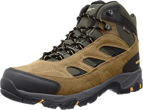Hi-Tec Logan Mid Waterproof Boots for Men – Bone Brown Mustard