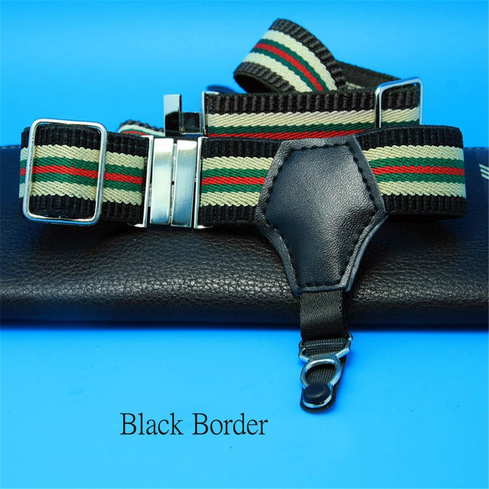 1Pair Sexy Men's Sock Garters Pin Grip Suspender Accessories Black Border DOREKIN