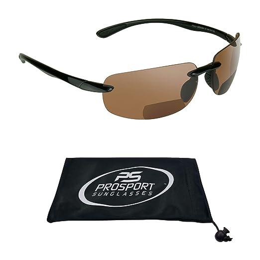 c6dfc32507 Amazon.com  proSPORT Rimless Bifocal Reading Sunglasses Readers Mens ...