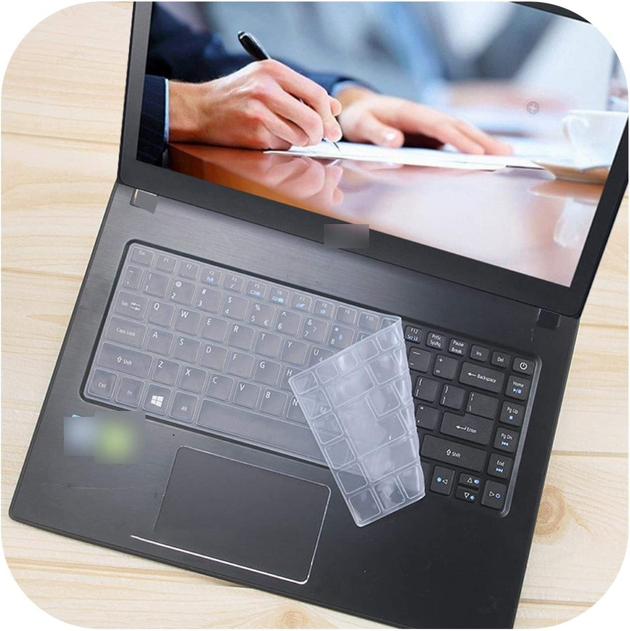 14 Inch Silicone Laptop Keyboard Cover Protector Skin for Acer Aspire Sf314 Tmp249 E5 475G Es1 433G K4000 E5 422G P648 Tmt40-Clear-