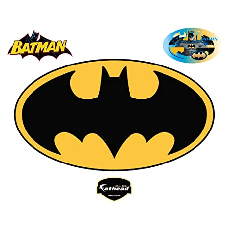 Amazon.com: Fathead Batman Logo Wall Decal: Home & Kitchen