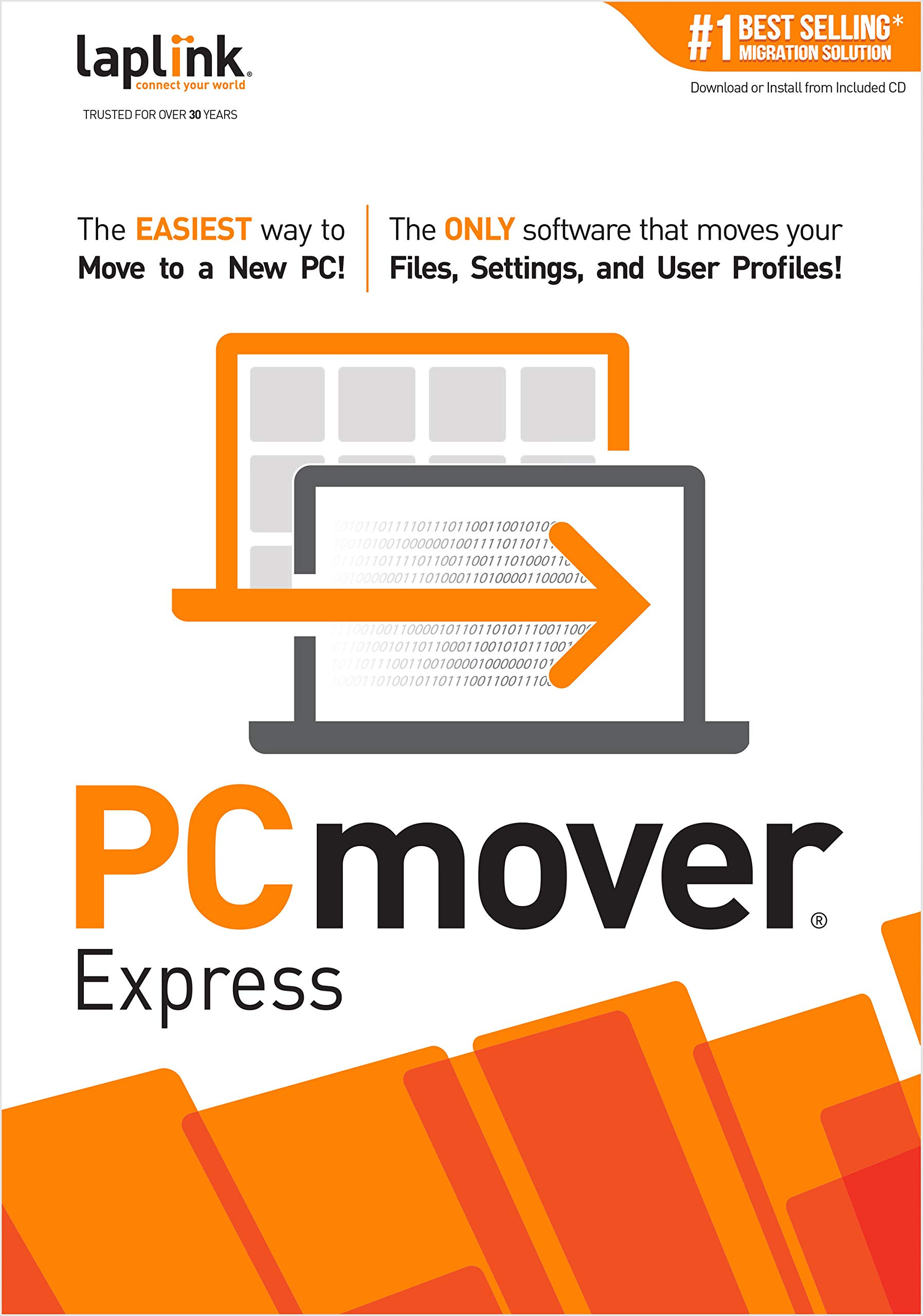 PCmover Express 11 (1 Use)  [PC Download] by Laplink Software, Inc.