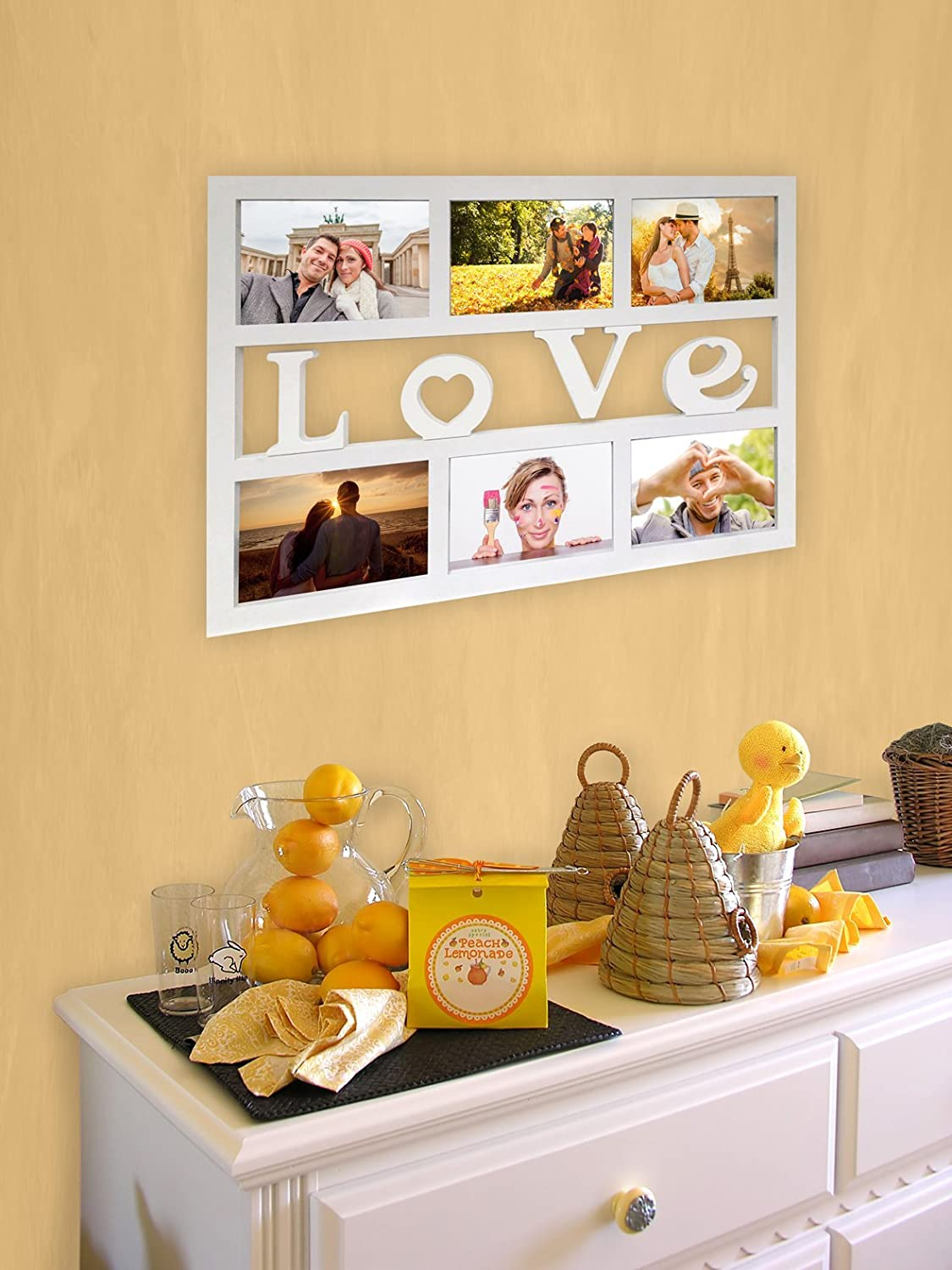 Amazon.de: Empireposter - Collage Bilderrahmen Love - Kunststoff ...