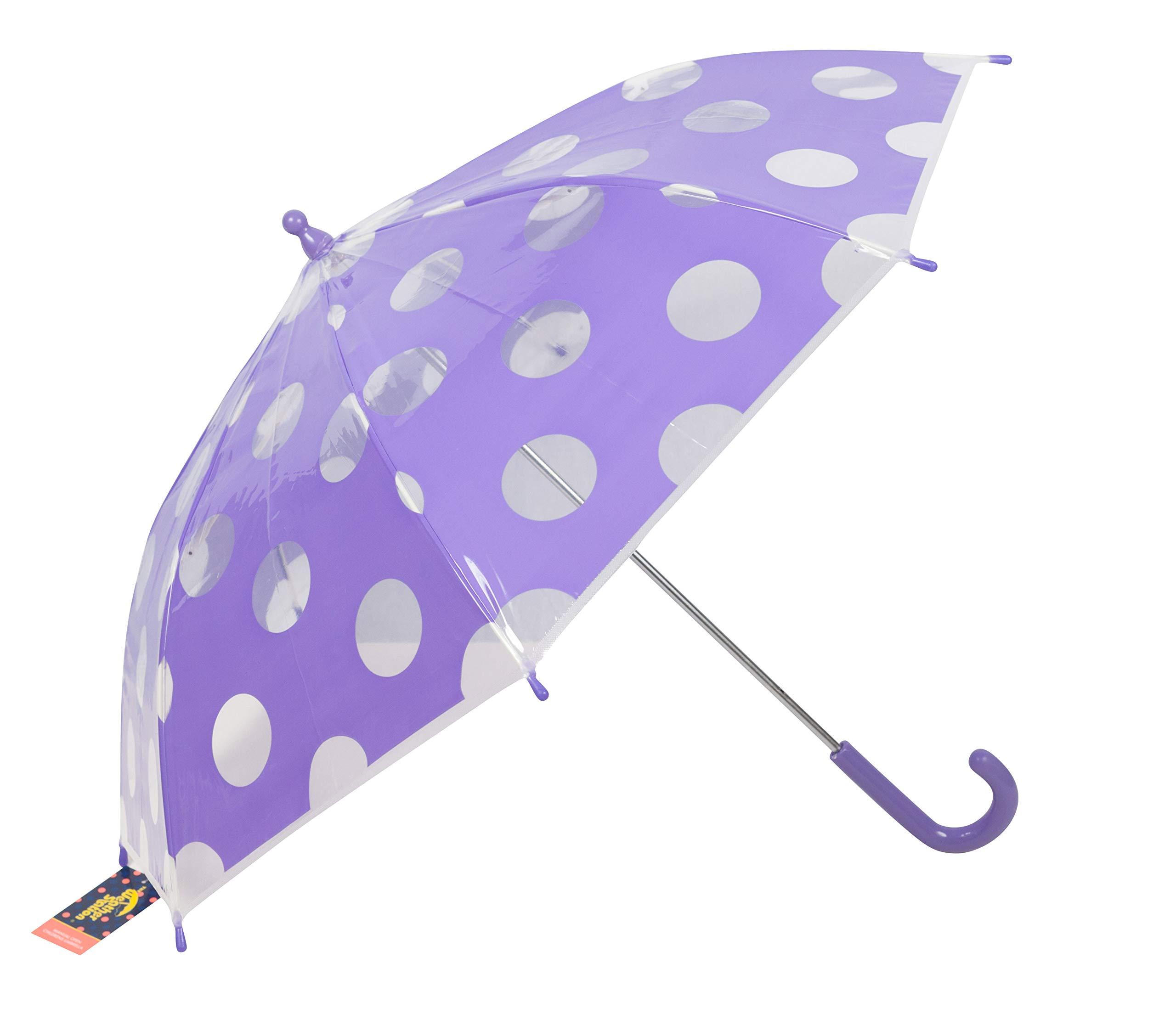 Girls Umbrella, 100% Polyester, 26-inch Coverage, Styles Vary, 1-umbrella