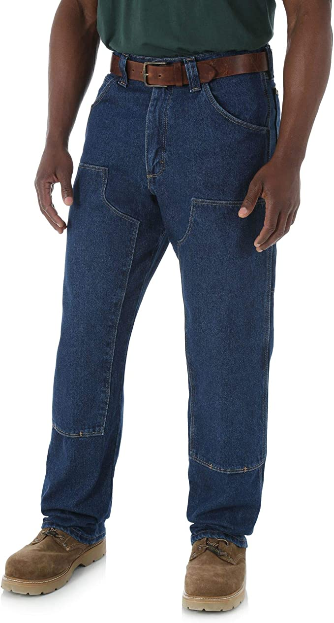 Wrangler RIGGS Workwear 31 X 30 Antique Indigo Wrangler RIGGS Workwear 14.5 Ounce Cotton Jeans With Front Zipper Closure