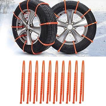 10pcs universal nieve Tire Cadena antideslizante emergencia invierno conducción rueda neumático bridas de nailon para coche camión SUV todos los tamaño ...