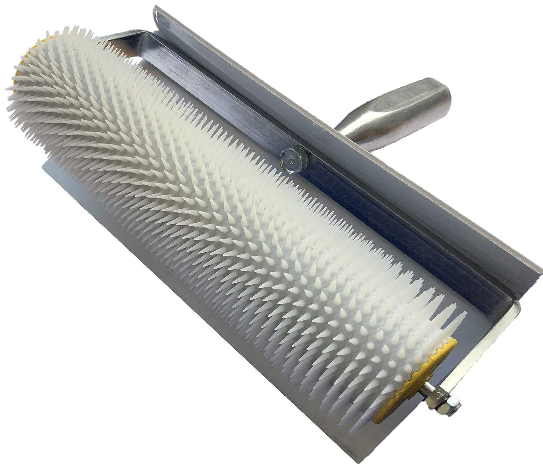 Rodillo de ventilació n 50 cm ventilació n roller rodillo de aireacó n con punta y protecció n contra salpicaduras longitud de la punta: herramienta de regla de 11 mm JBR-Service