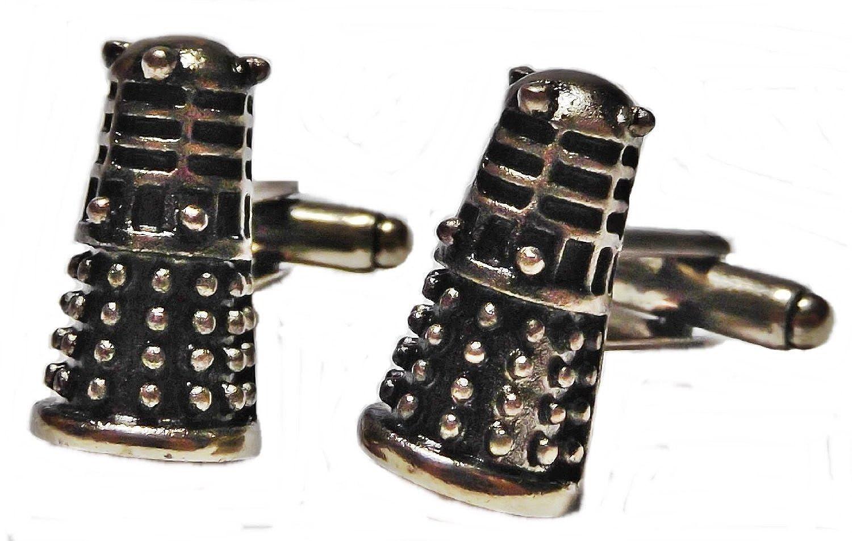 Doctor Who DALEK Bronze Tone 3D CUFF LINKS